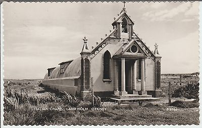 Lamb Holm - Orkney - Italian Chapel - Real Photo Postcard