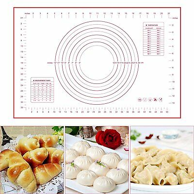 LARGE Silicone Rolling Cake Dough Mat Pastry Clay Baking Mat Oven Liner