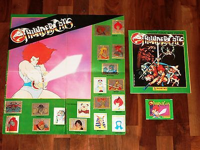 Thundercats 1986 complete Panini album, poster, pack & all loose stickers needed