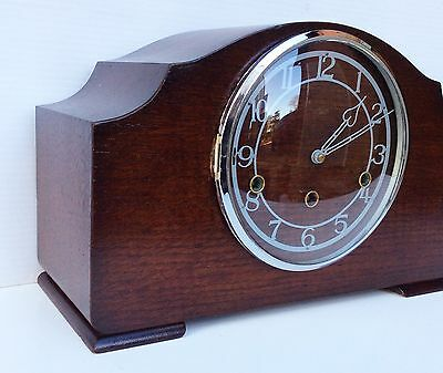 Smiths Enfield Oak Westminster Chiming Mantle Clock