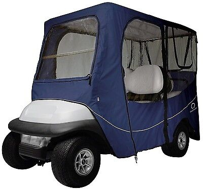 Classic Accessories Fairway Golf Cart Deluxe Enclosure Long Roof Navy Blue NEW
