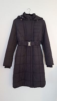 Mamalicious Maternity Winter Coat Padded with Detachable Hood size M