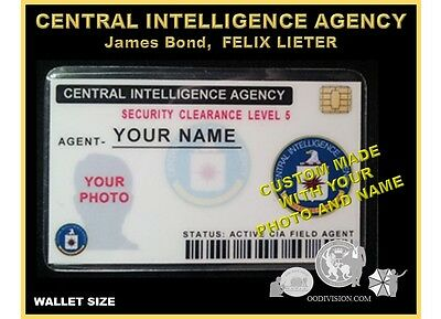 CIA id CARD   movie OO DIVISION Collector ID card