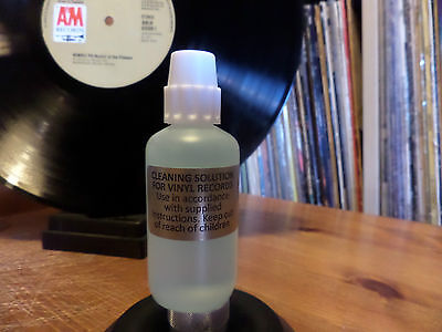 VINYL RECORD CLEANING LIQUID. RECORD CLEANER. 50ml SAMPLER BOTTLE