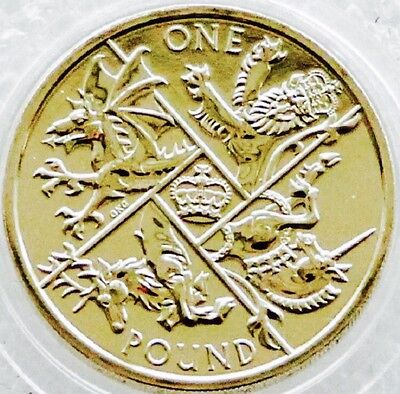 2016 £1 Coin Royal Mint Bunc One Pound - The Last 'Round Pound'