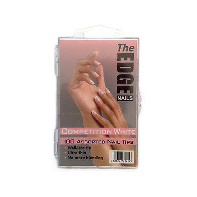The Edge Nail French White Competition Assorted Tips Box of 100