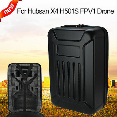 Professional Hubsan H501S PRO 1080P Camera RC Drone Hard Shell Backpack Case Bag