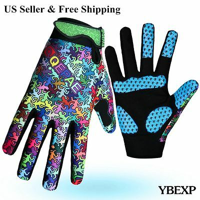 New Biker Motorcycle bicycle Racing Cycling Mechanics Full Finger Gloves M~XL