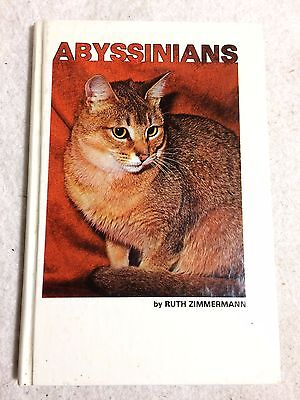 """""""Abyssinians"""" VTG 1980 Cat Book by Ruth Zimmermann SIGNED by The Author"""
