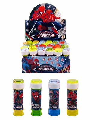 SPIDERMAN BUBBLE TUBS Kids Party Bag Filler Favors Birthday Toy Gift WAND + MAZE