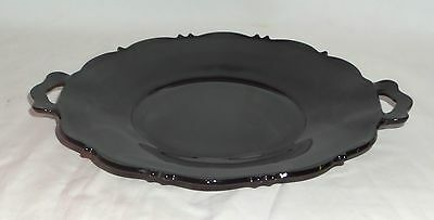 "LE Smith MT PLEASANT BLACK *10 1/4"" HANDLED CAKE PLATE*"