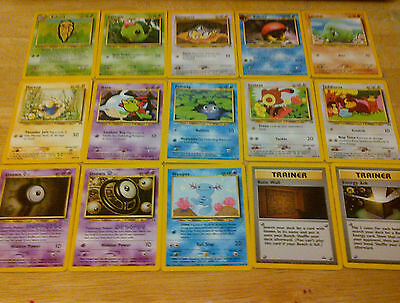 15 Neo Discovery Pokemon Cards Almost Complete Uncommon Common Set Lot