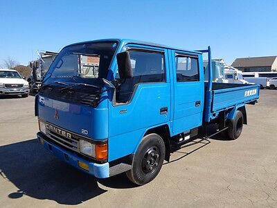 1991 Mitsubishi Canter Crew Cab Flatbed Truck Only 16K Miles Diesel From Japan !