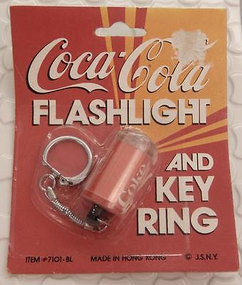 Vintage Coca-Cola Flashlight and Key Ring New Unopened Made in Hong Kong D762D