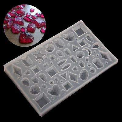 DIY Silicone Pendant Mold Making Jewelry For Resin Necklace Mould Craft Tool
