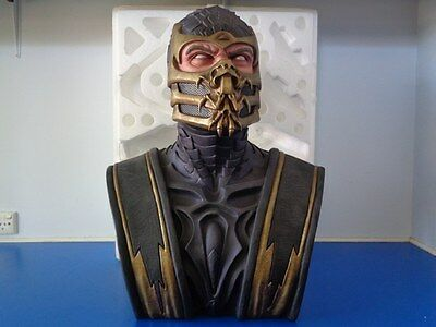 "Scorpion Mortal Kombat 9 Life-Size 1:1 Bust Statue Pop Culture ""BOXED"" 59/200"