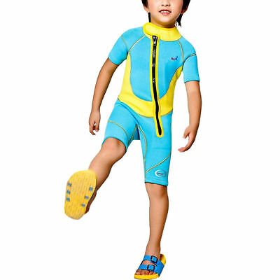 Kids Boy Girl 2.5mm Neoprene Diving Short Sleeve Swiming WetSuit WDS-8002