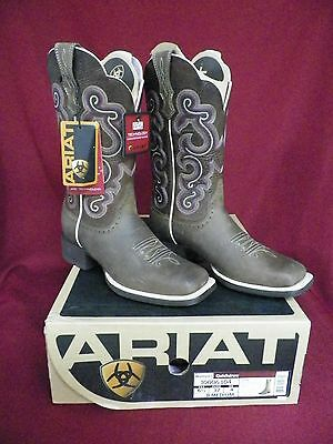 NEW! Woman's Ariat Quickdraw Western Boots 10006304 Badlands Brown Size 6-1/2B