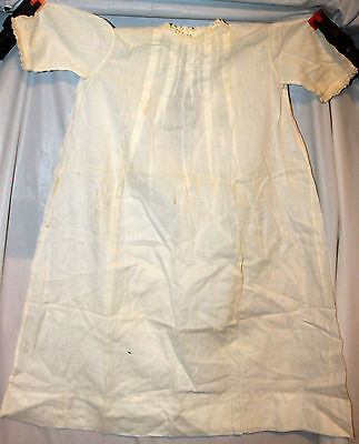 "Beautiful Handmade Edwardian Baby Infant Pintucked & Embroidered Gown 24.5""long"