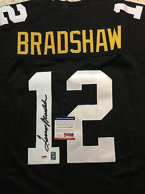 TERRY BRADSHAW Autographed Steelers Jersey - COA PSA/DNA