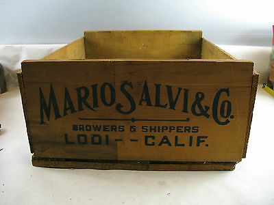 Wooden Crate box grapes california