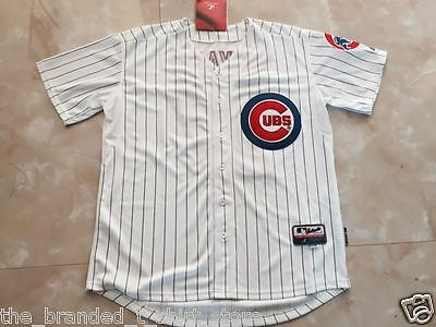 Kris Bryant Chicago Cubs #17 Majestic White MLB Cool Base Jersey (NWT)