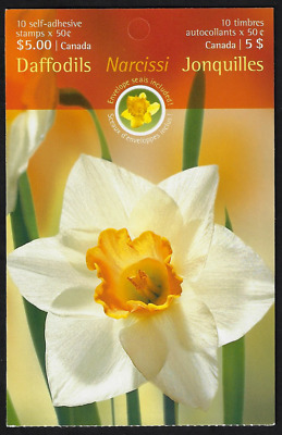 Canada Stamps - Booklet Pane of 10 - Flowers, Daffodils #2093a (BK308) - MNH
