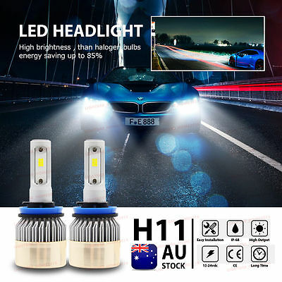 H11 CREE 18000LM 180W LED Headlight Lamp High Bright White Kit Globes Bulb HID