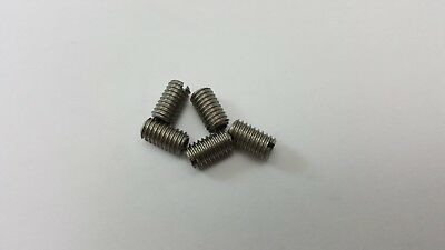 5 x THREAD ADAPTERS - M6 6MM MALE TO M4 4MM FEMALE - THREADED REDUCERS
