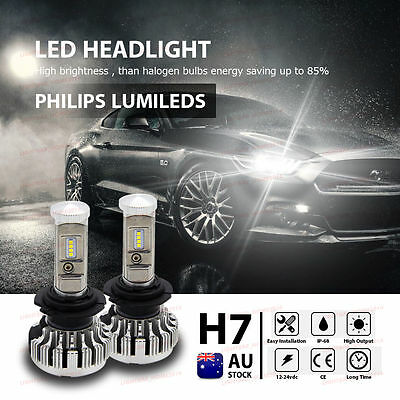 H7 180W CSP 28000LM White LED Headlight Lamp Kit Globes Bulb Canbus AU STOCK