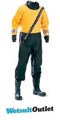 Ex Demo Typhoon Woss Commercial Industrial Breathable Drysuit 120111 Black / Yel