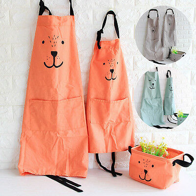Adult Cooking Apron Eco-friendly Cotton Painting Apron Kid Apron For Children