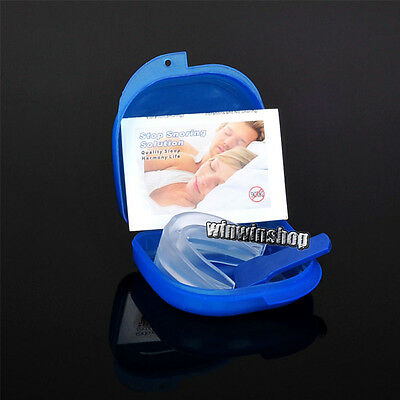 1PC ANTI SNORE Stop Snoring Mouthpiece Soft Silicon Sleeping Aid Grinding Teeth