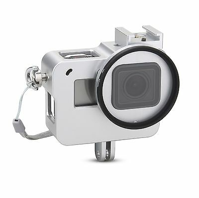 Aluminium Alloy Frame Thick Solid Protective Case + UV Filter for Gopro Hero 5