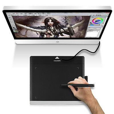 Huion 680TF Art Graphics Drawing Tablet Dessin Pad Graphique Stylo Cordless Noir
