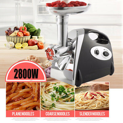 2800W Electric Meat Grinder Mincer & Sausage Maker Machine in Black