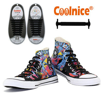 Coolnice Easy Slip-on No Tie Shoelaces Elastic For Sports Business All Ages UK