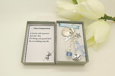 Personalised Christening Sixpence Gift.First Communion.Baptism.Confirmation