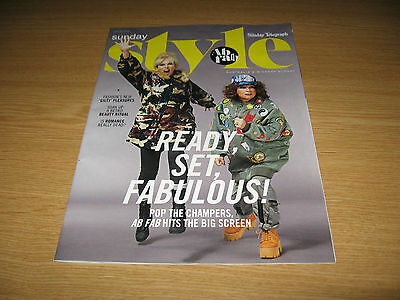 JOANNA LUMLEY & JENNIFER SAUNDERS ABSOLUTELY FABULOUS  Cover & 3 page feature
