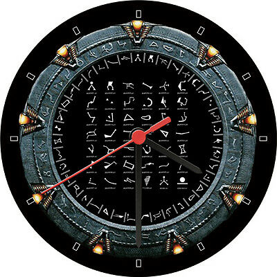 Stargate Glyphs Milky Way Galaxy Advertising Wall Clock
