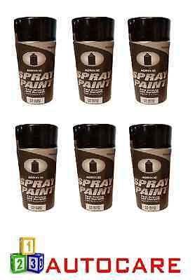 Tradecolour Acrylic Spray Paint Fast Drying And Durable - Black Gloss 500ml x6