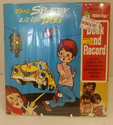 Original sealed Peter Pan Records, Book and Record The Speedy Little Taxi 45rpm