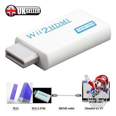 WII TO HDMI WII2HDMI FULL HD 1080P CONVERTER ADAPTER 3.5mm AUDIO SUPPORT Free PP