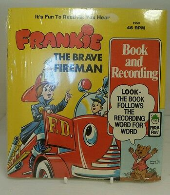 Original sealed Peter Pan Records, Book and Record Frankie the Brave Fireman