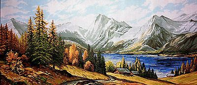 """Gobelin Tapestry Needlepoint Kit """"Landscape"""" hand embroidery printed canvas 153"""