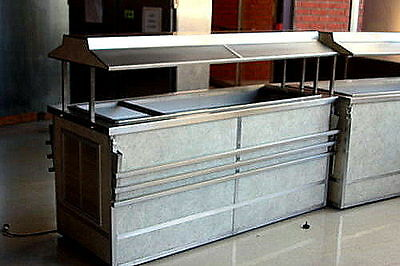 6ft SALAD BAR with Sneeze Guard on Wheels Refrigerated made by Atlas