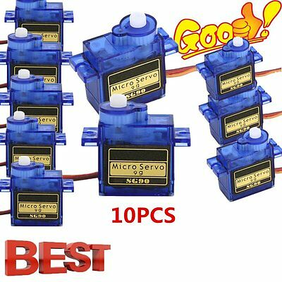 #10X5XSG90 9G Micro Servo Motor RC Robot Arm Helicopter Airplane Remote Control#