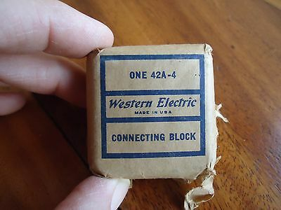 Vintage Western Electric Off White Phone 4 Line Connecting Block 42A-4 Made USA