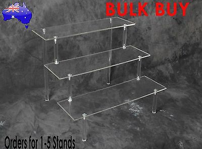Acrylic Display Stand 3 Tier; Collectible; Plastic; Cake; toys; Office; Jewelry