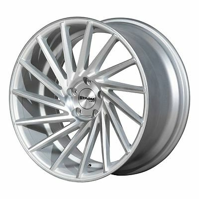 "19"" STROM DS15 Directional Wheels - Silver Machined - VW / Audi / Mercedes 5x112"